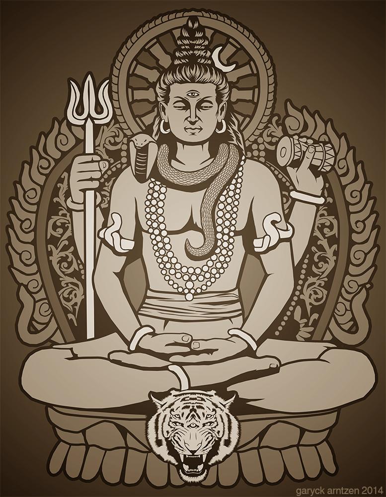 Mahadeva Shiva by GaryckArntzen