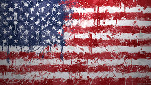 USA Flag Wallpaper - Grungy Splatter