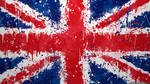 UK Flag Wallpaper  - Union Jack Splatter by GaryckArntzen