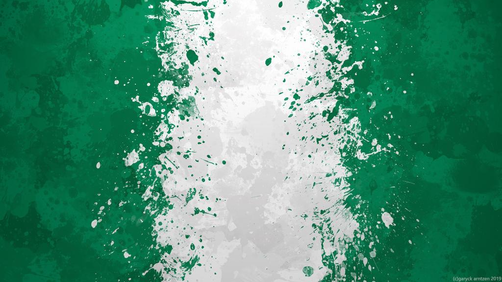Nigeria Flag Wallpaper Grungy Splatter By Garyckarntzen On Deviantart