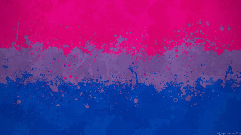 Bisexual Flag Wallpaper Grungy Splatter By Garyckarntzen