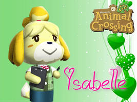 Animal Crossing New Leaf Wallpaper: Isabelle by RavenVillanuevaT2P
