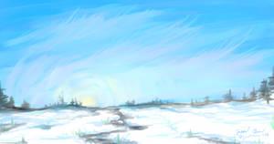 Snowy Digital Watercolor