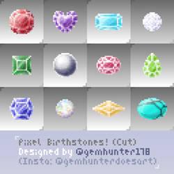 Pixel Art Birthstones! - cut