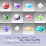 Pixel Art Birthstones! - cut