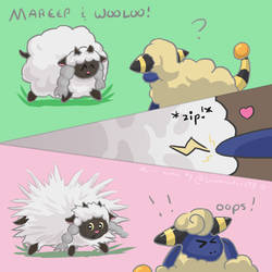 Wooloo and Mareep