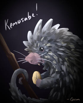 Kemosabe the prehensile-tailed porcupine!
