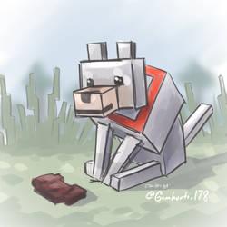 Minecraft Wolf Sketch