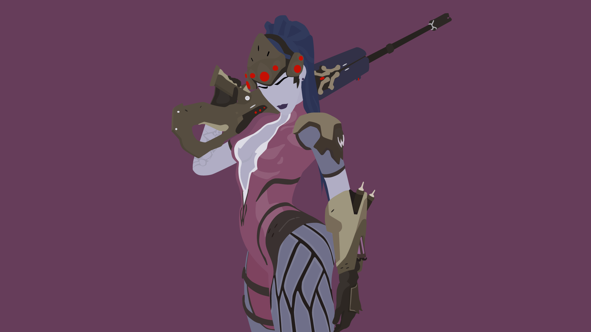Widowmaker Vector Art Wallpaper by WalidSodki