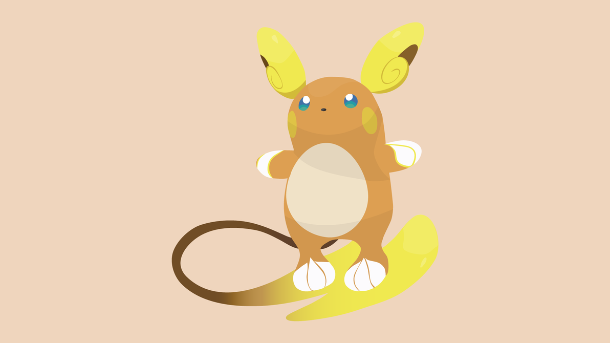 Aloha Raichu Vector Art Wallpaper by WalidSodki