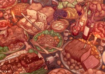 Food. by yevonyasuko