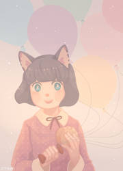 Balloon and Imagawayaki by yevonyasuko