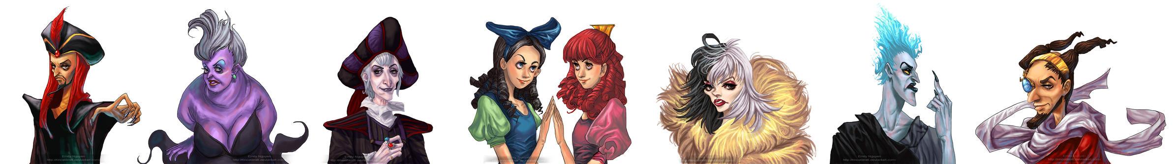 Disney Villain 1 pager by emilynguyenart