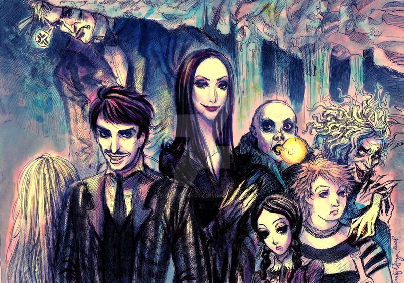Addams Family by emilynguyenart