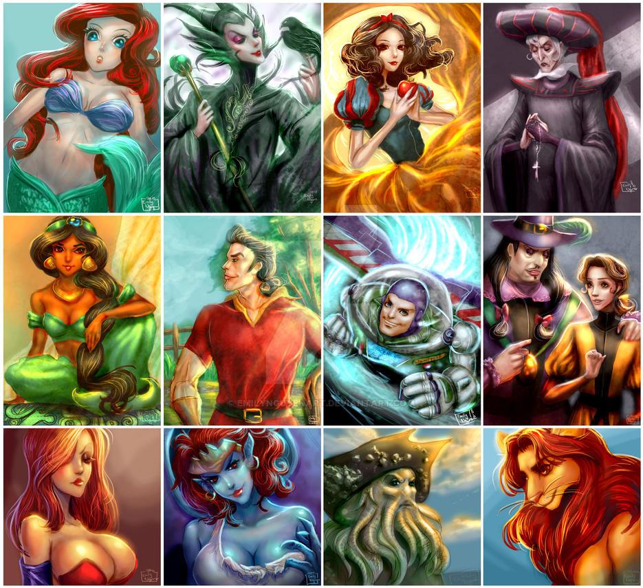 Disney Casual Samples by emilynguyenart