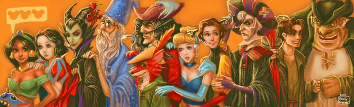 Disney Line DA Muro by emilynguyenart