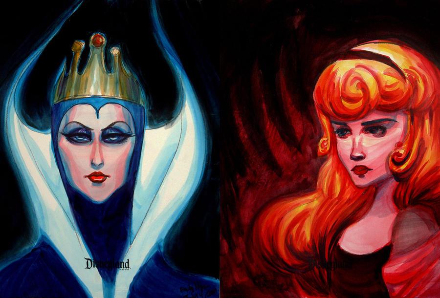 Blue Queen, Red Rose by emilynguyenart
