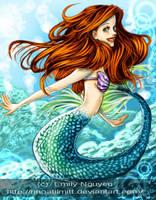 Ariel the Little Mermaid by emilynguyenart