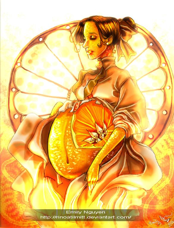 An Orange Mother by emilynguyenart