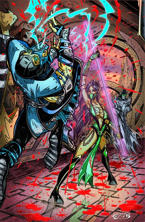Jade Vs. Sub-Zero IN COLOR by JTMolloy on DeviantArt