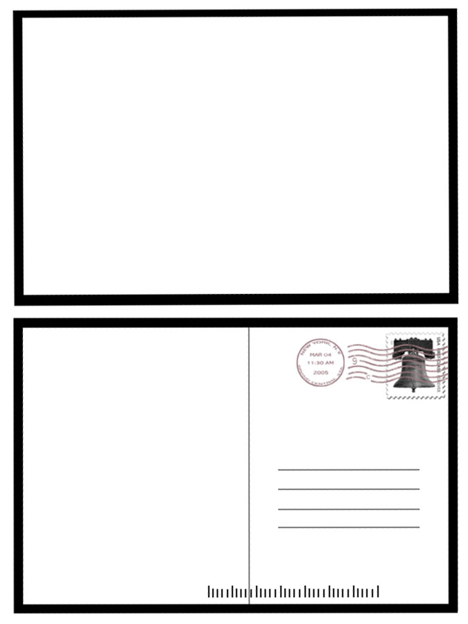 Postcard template example resumes for Back of postcard template photoshop