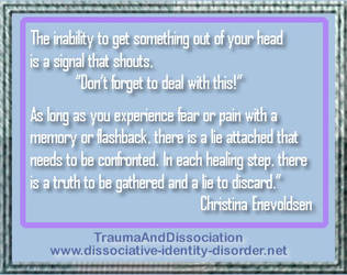 Flashbacks - seen as a sign of healing your trauma by DIDisReal