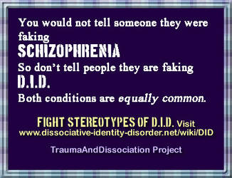 Dissociative identity disorder is not rare/obvious by DIDisReal