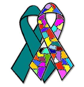 Dissociative identity disorder and PTSD ribbons by DIDisReal