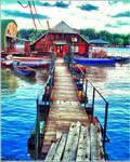 at Sava's river quay