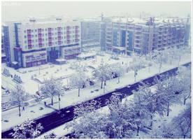 The sheer white town by Sandrita-87