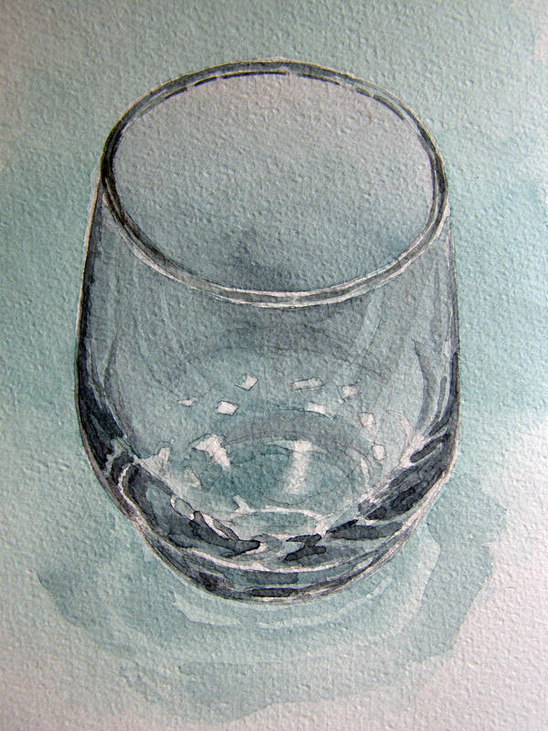 Glass in watercolour by Mad-Margaret on DeviantArt