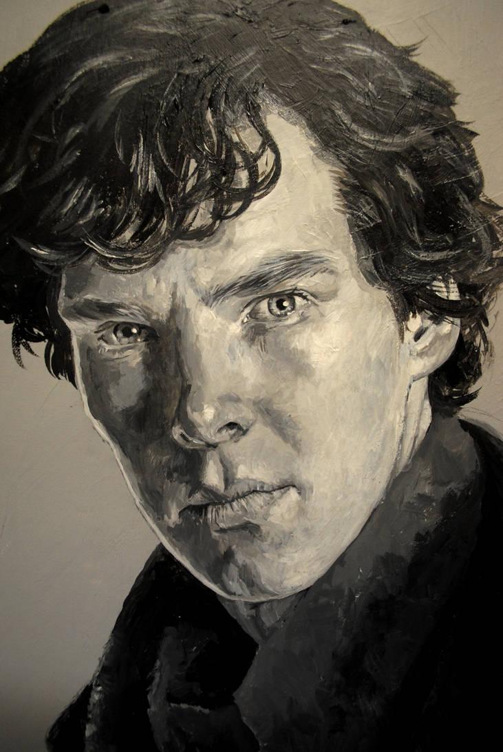 WIP - Benedict Cumberbatch as Sherlock by Mad-Margaret