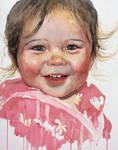 Watercolour portrait of girl