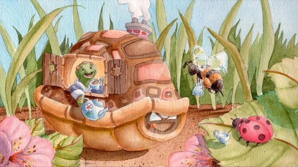 Tea Turtle by CBeeProject