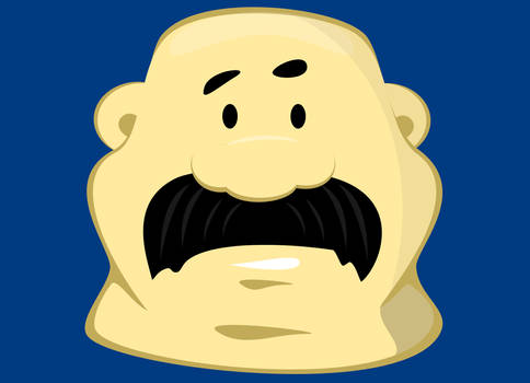 Fat guy head 01