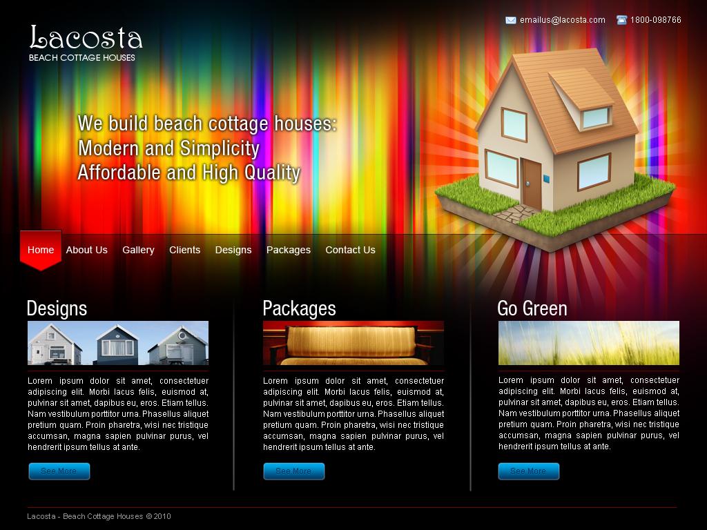 Webdesign - Website Mock-up by adapter on DeviantArt