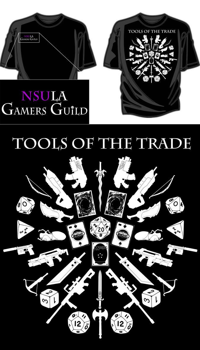 Gamer's Guild Shirt Design by zilfana