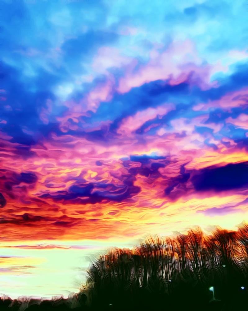 Sky On Fire by Mega-NE-k-KO