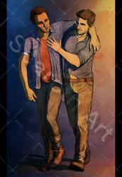 Sam i Nathan form Uncharted 4, again