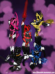 Psycho Rangers (w/Weapons)