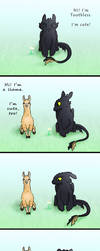 Toothless vs. Llama by carpenoctem410