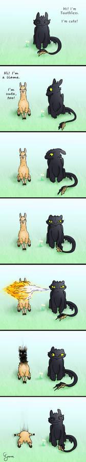 Toothless vs. Llama