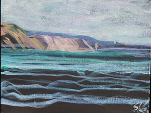 Grand Marais, A Sketch Between Dips