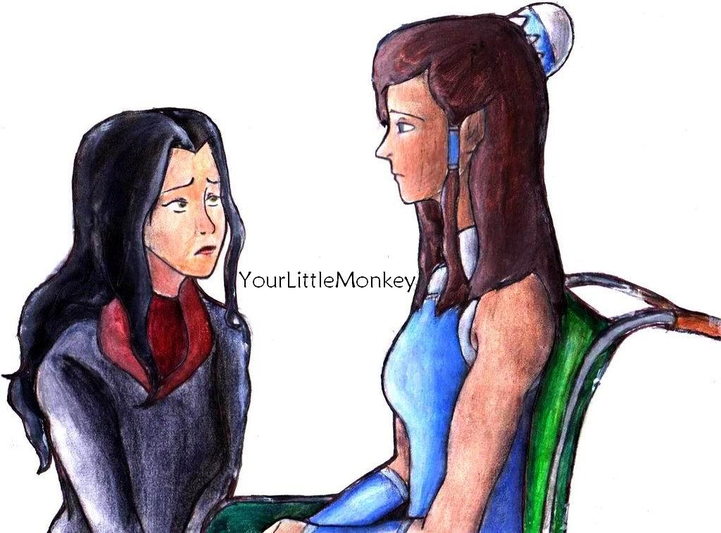 Korra And Asami by YourLittleMonkey