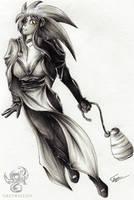 Ryoko Bringing Home the Sake by Greymaulkin