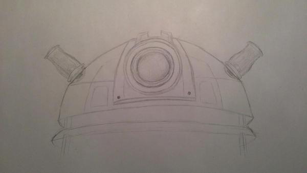 Dalek WIP by lunejaune145