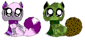 Scarf Cat Adoptables Each 3 Points [CLOSED]