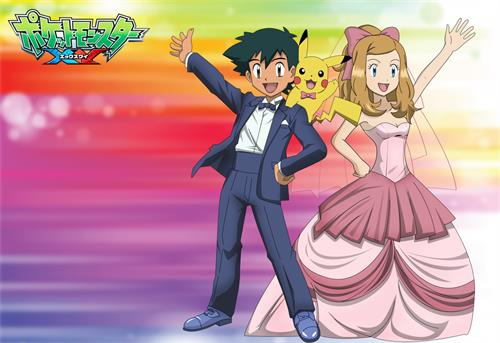 Ash Satoshi and Serena by Empire-of-PokeJapanPokemon Serena And Ash Fanfiction