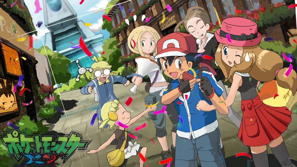 Ash/Satoshi and Serena by Empire-of-PokeJapan