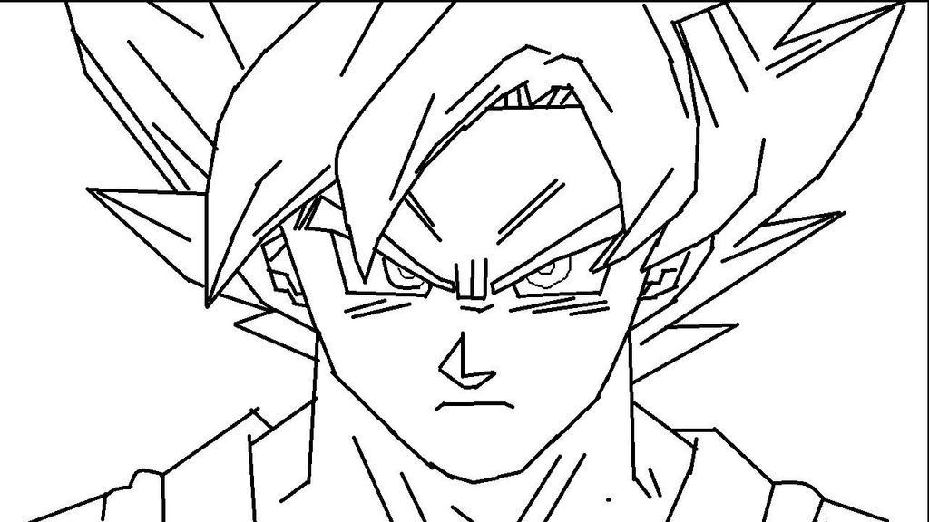 Goku SSGSS FNF Lineart (Paint :v) W.I.P by LaNutreaShida